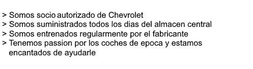 Chevrolet Beneficios del concesionario